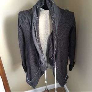 Vintage Open Black and Gray Cardigan Size Small